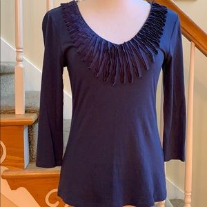 Cable & Gauge 3/4 Sleeve Top